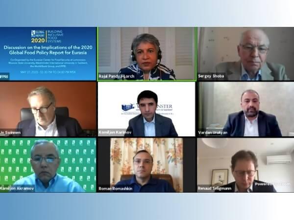 Ռեկտոր Ուռուտյանը մասնակցել է IFPRI-ի՝ Եվրասիական տարածաշրջանի 2020թ․-ի զեկույցի քննարկմանը